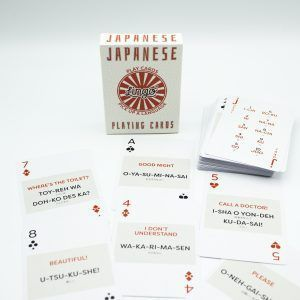 Japanese phrases Lingo cards