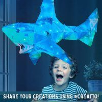 creatto shimmer shark kids activity pack