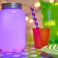Glow jar multi colour